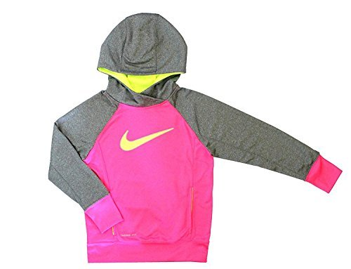NIKE Girls' KO 3.0 Applique Pullover Hoodie Youth Girls (8-18) 853718 667 (8 Toddler M)