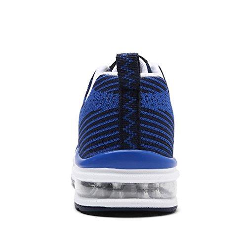 Weweya hombres Respirable Zapatos para correr Blue