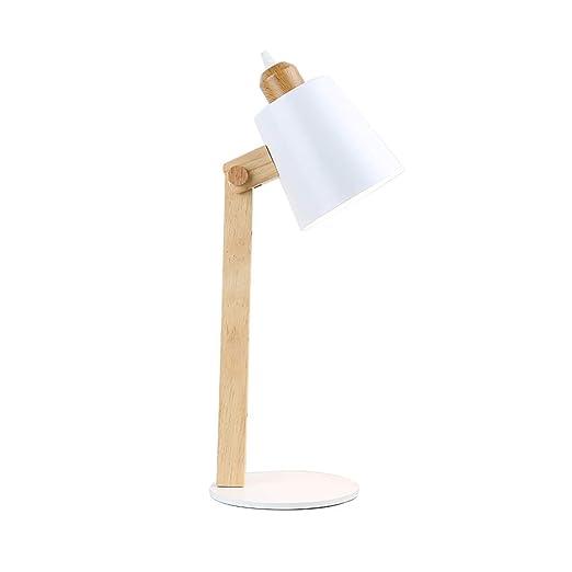 SACYSAC Dormitorio cabecera lámpara de Mesa Creativa de Madera ...