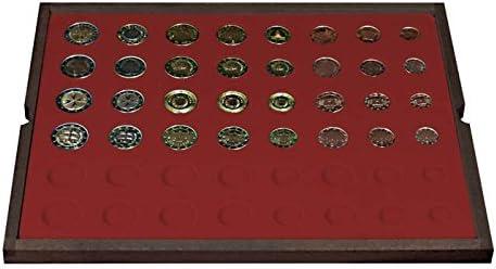 Lindner 2494-12 Estuche de madera maciza CARUS (para un total 24 juegos de monedas Euro circulados): Amazon.es: Juguetes y juegos