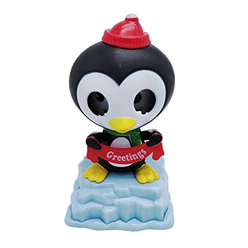 Flameer Solar Powered Bobbing Penguin Animal Figure - Fun Solar Science Toy Home Desktop Car Decor Bobbleheads Animal Pet Model