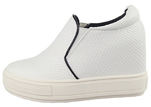 Serpent 1 Blanc Sneaker Femmes HooH Peau A029 Height De Increasing HtxTw8