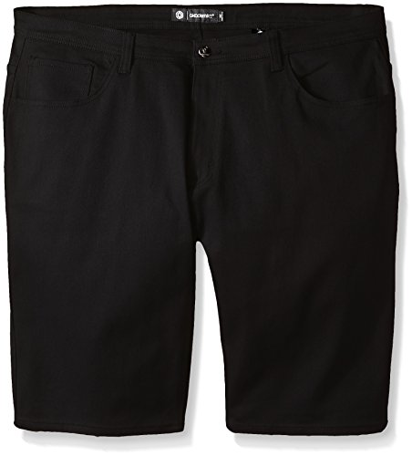 Akademiks Men's Big and Tall Shady Stretch Shorts, Black, 46