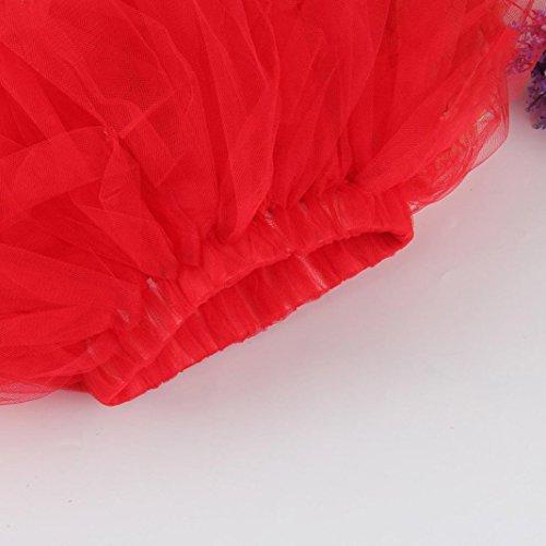 pour Femmes Les Tutu Filles Lenfesh Ballet Jupe Rouge de Jupes plisses Haute qualit Fantaisie PqU6PzR