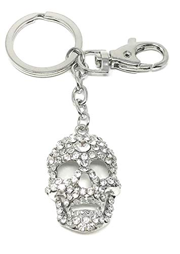 (Value Arts Bejeweled Skull Key Chain, 4.5 Inches Long)
