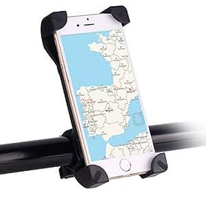 Awnic Soporte Móvil Bicicleta Ultra Estable 4 Esquinas Cerradas Silicona Antideslizante Universal para 3,5'' a 6,5'' de iPhone Android Smartphone, etc