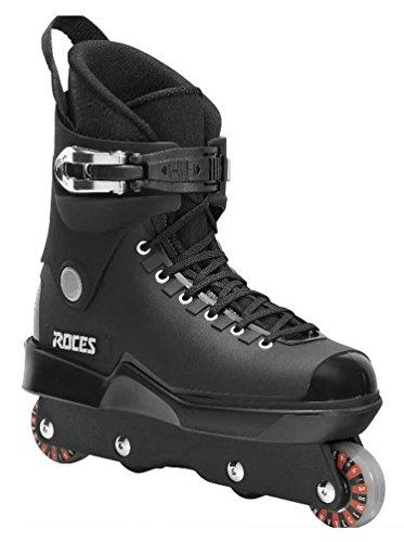 Roces Mens M12 UFS Aggressive Street Italian Inline Skates Black 101183 ()
