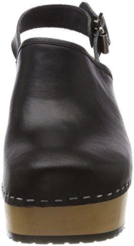 Hasbeens neri nero donna nero Plateau Swedish Zoccoli da Jill vAqpdYF