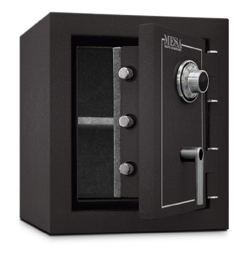 Mesa Safe MBF1512C All Steel Burglary and Fire Safe with Combination Lock, 1.7-Cubic Feet, Hammered Grey by Mesa Safe (Image #2)