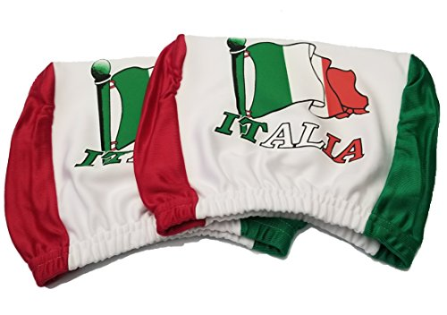 Italy Headrest Cover Italian Flag Fit for Cars Vans Trucks-Sold by a Pairs by BUNFIRE