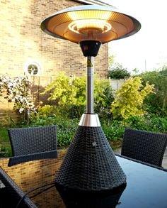San Diego Rattan Gartenmöbel braun Tisch Top Terrassenstrahler
