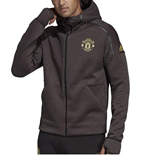 4ecf44a6b adidas Men s Manchester United Chinese New Year Z.N.E. Hoodie (Medium)  Black Carbon