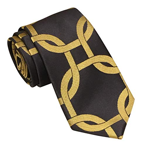 Sean John Gray Gold Giant Chain Links Tie