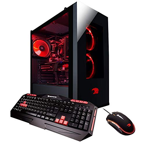 iBUYPOWER Gaming Computer Desktop PC AM006A AMD FX-8320 8-Core 3.5Ghz (4.0Ghz), NVIDIA Geforce GTX 1050 Ti 4GB, 16GB DDR3 RAM, 2TB 7200RPM HDD, Wi-Fi USB Adapter, Win 10 Home, Black ()