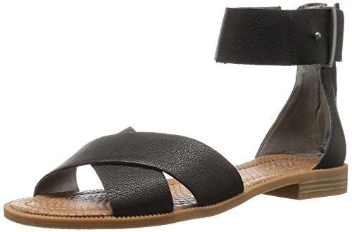 (Nine West Women's Xen Leather Dress Sandal, Black, 6.5 M US)