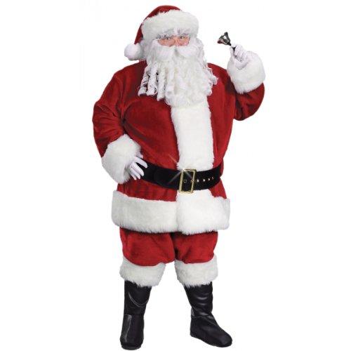 Regency Plush Crimson Santa Suit Adult Costume - X-Large