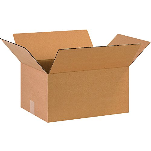 "Aviditi 16128 Single-Wall Corrugated Box, 16"" Length x 12"" Width x 8"" Height, Kraft (Bundle of 25) from Aviditi"