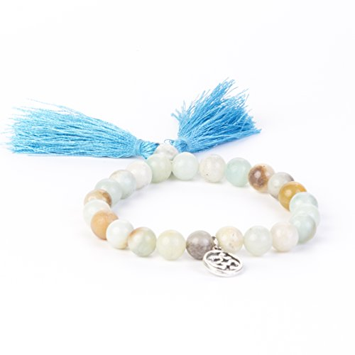 Amazonite Mala Bracelet by Kuratif- Balance Masculine and Feminine Energy