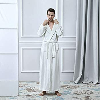 Unisex Bathrobes Luxury Ladies Dressing Gowns Wrap Around Housecoat  Nightwear Lounge Wears with Pockets and Belt. Loading images. c0b8ceab2