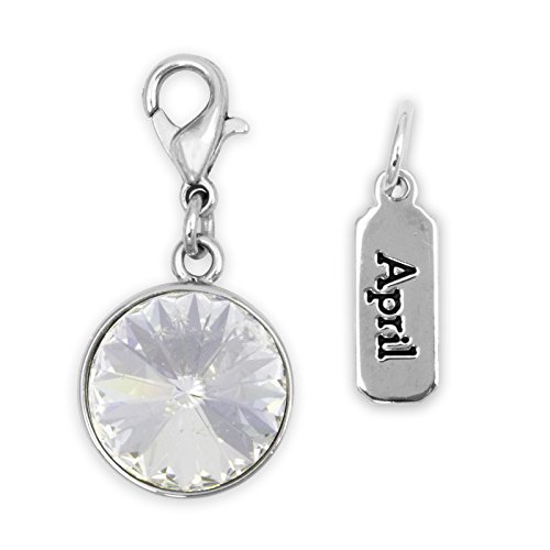 Crystal April Charm - Cousin DIY Create Your Style April Birthstone Charms, Made with Swarovski Crystal