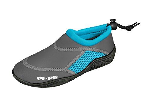 PI-PE Kinder Badeschuhe Active Aqua Shoes Grey/Cyan