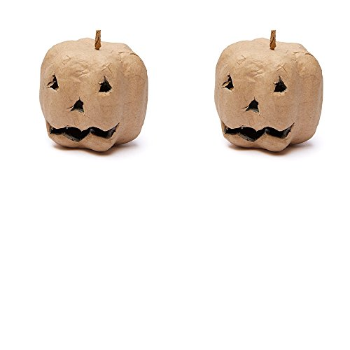 Factory Direct Craft Small Natural Paper Mache Jack O' Lanterns for Halloween Home Decor - 6 Jack O' (Paper Mache Halloween Lanterns)