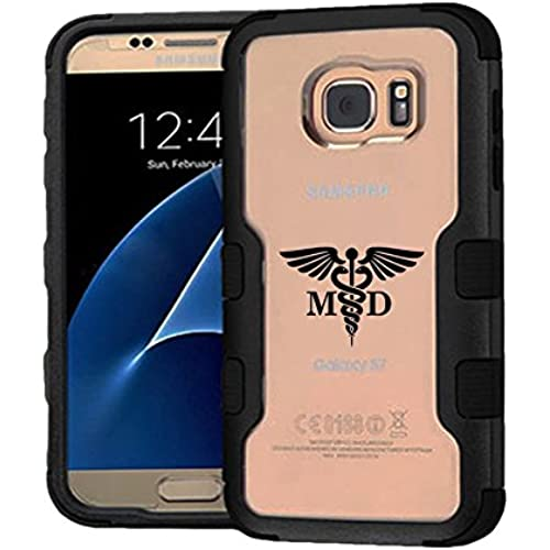 Galaxy S7 Case Medicine Doctor, Extra Shock-Absorb Clear back panel + Engineered TPU bumper 3 layer protection for Samsung Galaxy S7 (New 2016) Black Sales