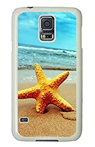 Starfish Samsung Galaxy S5 Hard Case Cover,Beach Samsung Galaxy S5 Case Cover,Summer Scenery
