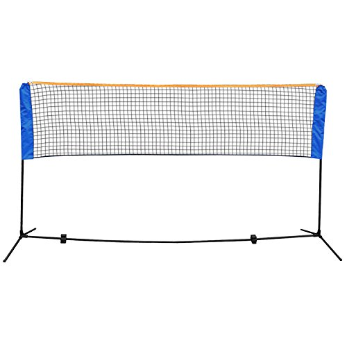 Smartxchoices 10ft Portable Badminton Net and Frame Set Professional Volleyball Training Practice Net with Poles Height Adjustable Net with Carrying Bag by Smartxchoices (Image #1)