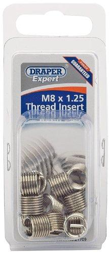 Inserto de tuercas Draper Expert 21708 M6 x 1,0, m/étricas, 12 unidades