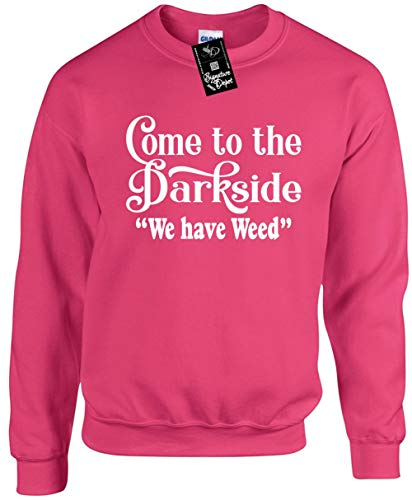 Signature Depot Unisex Funny Crewneck XL (Come to The Dark Side WE Have Weed) Sweatshirt