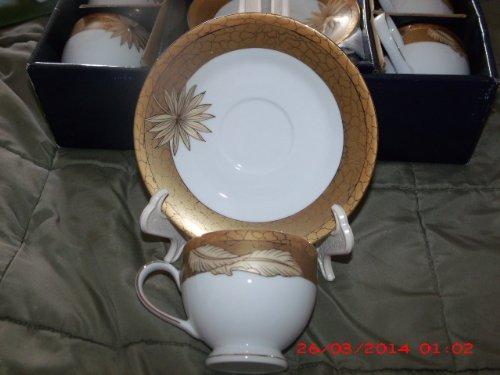 Porzellan Fabrik SMCS Tirschenreuth Bavaria 12 Piece Tea Set Gold Trim CIB 44T307