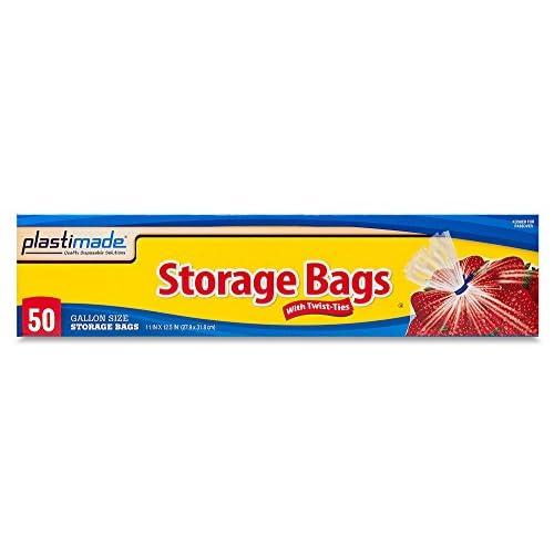 Plastimade Food Storage Bags Twist Tie 1 Gallon 50 Count delicate  sc 1 th 225 & Plastimade Food Storage Bags Twist Tie 1 Gallon 50 Count delicate ...