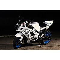 Black & White Fairing Bodywork Injection for 2003-2004 Suzuki GSXR GSX-R 1000