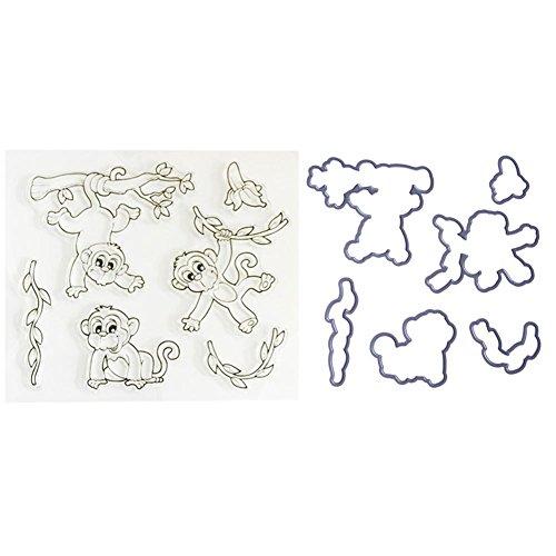 Mikolotuk 1pc Carbon Steel Cutting Dies Stencils Monkey Pattern Scrapbooking Photo