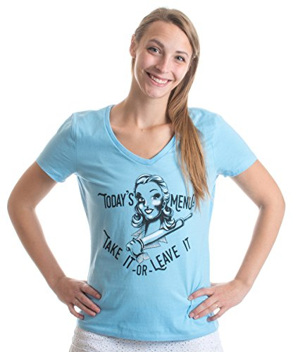 Today's Menu: Take it or Leave it | Funny Cooking Chef Ladies' V-neck T-shirt