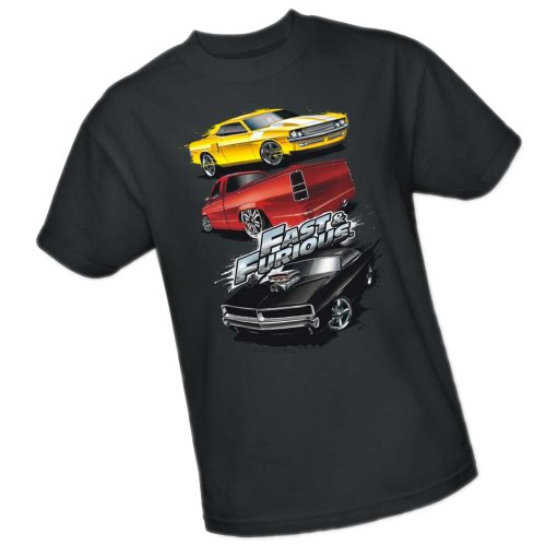Muscle Car Splatter -- Fast And The Furious Adult T-Shirt, Large