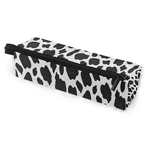Glasses Case Funny Cow Print Multi-Function Zippered Pencil Box Makeup Cosmetic Bag for Women