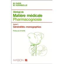 abr. mat. med. 1 pharmacognosie