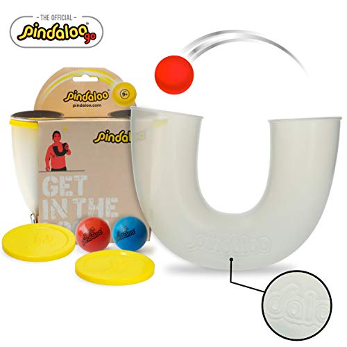 pindaloo Skill Toy + 2 Upgraded Balls. The Latest Craze to Hit The U.S.A. for Kids, Teens and Adults. Lots of Fun, Develops Motor Skills. for Indoor and Outdoor Play