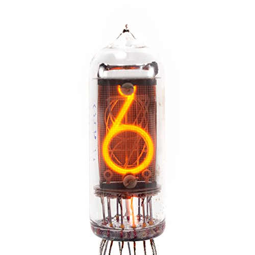- 6 PCS/LOT ULTRARARE FINE SMALL GRID NIXIE NEON IN-14 CLOCK DIGIT TUBE NOS