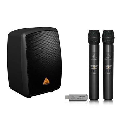 Behringer Europort MPA40BT All-in-One Portable 40-Watt PA System with Bluetooth Connectivity and Battery Operation - With Behringer Ultralink ULM202USB High-Performance 2.4 GHz Digital Wireless System