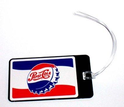 (Pepsi cola vintage cap ad luggage or book tag)