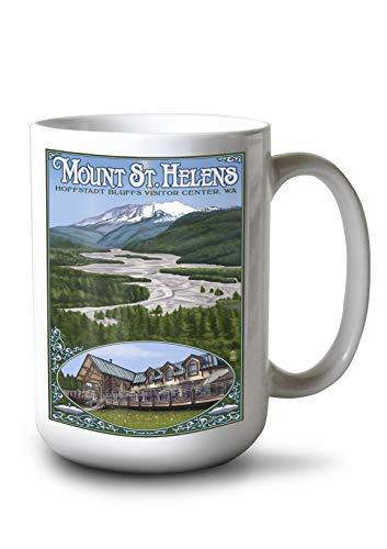 Hoffstadt Visitor Center - Mount St. Helens, WA (15oz White Ceramic Mug)