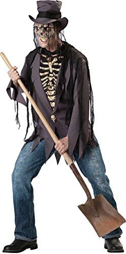 (InCharacter Costumes, LLC Men's Grave Robber Costume, Black,)