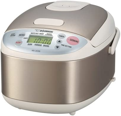 Zojirushi NS-LAC05XA Micom 3-Cup Uncooked Rice Cooker and Warmer