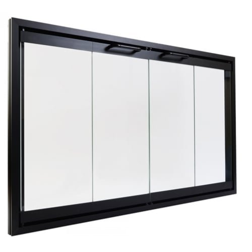 Monessen Hearth Systems Original BI-Fold Glass Doors w/Black Trim for SB80 ()