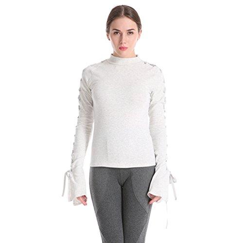 Col T Mode Shirt Extensible Cordon Haut Femmes Demi Binhee w5xH0Iq4an