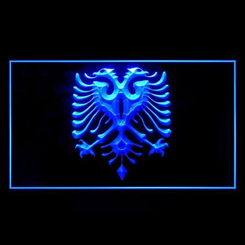 Albanian Eagle Flag Modern Tattoos Design Graphic Lovely LED Light Sign 230107 Color Blue