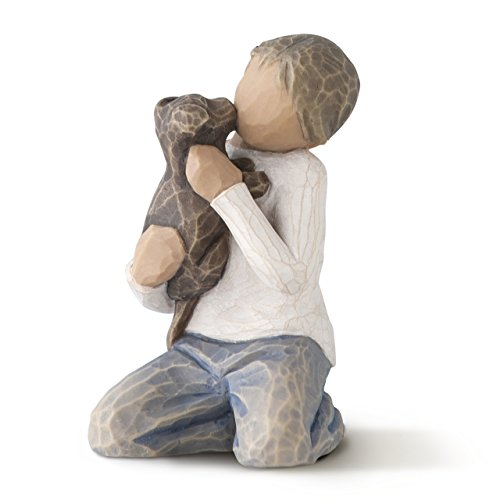 (Willow Tree Kindness (boy, darker skin tone & hair color), sculpted hand-painted figure)